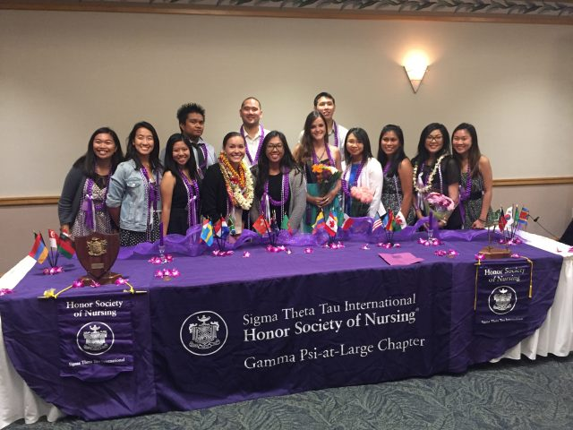 Sigma Theta Tau International honor society group photo