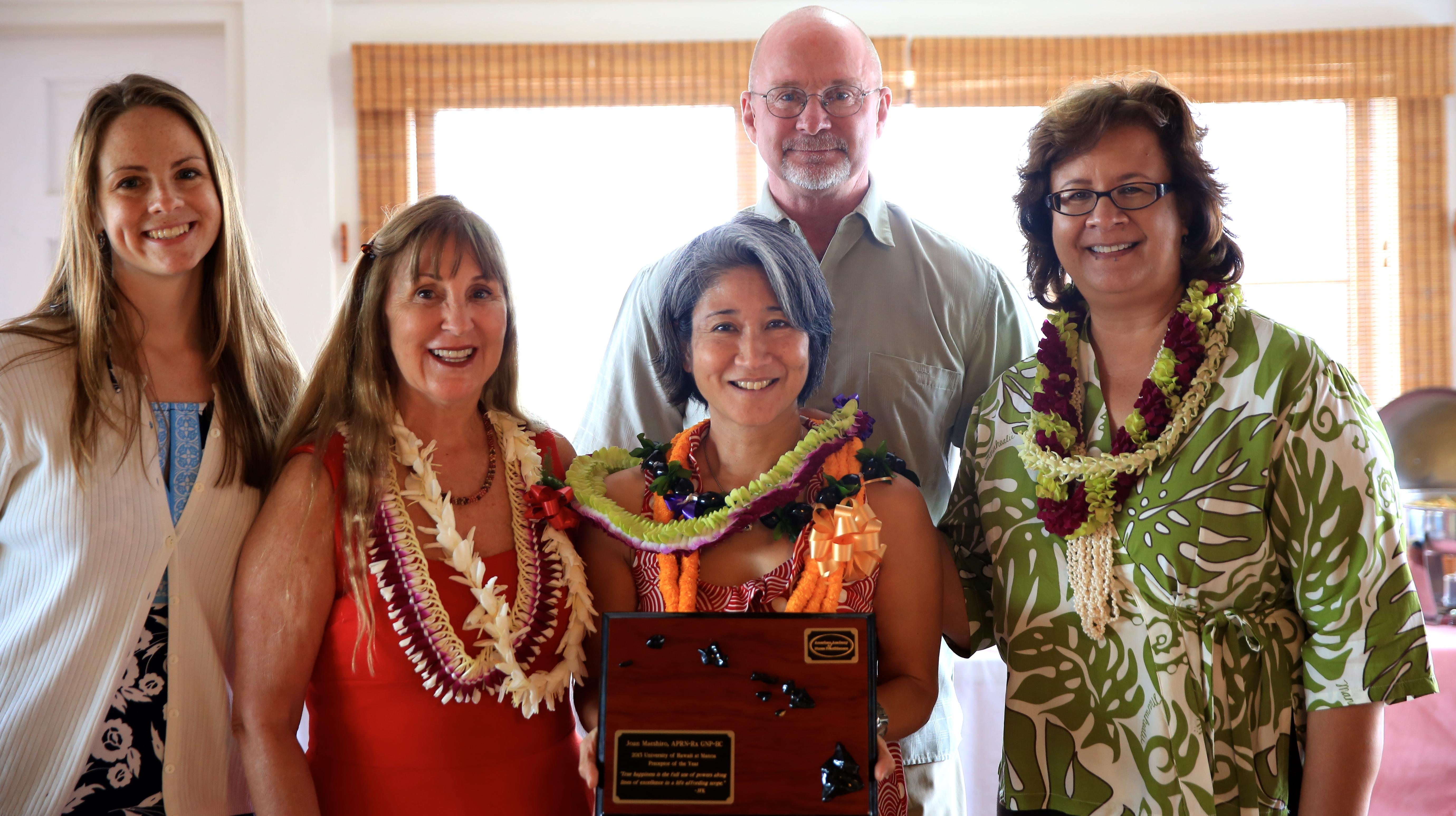 Joan Maeshiro smiles for photo