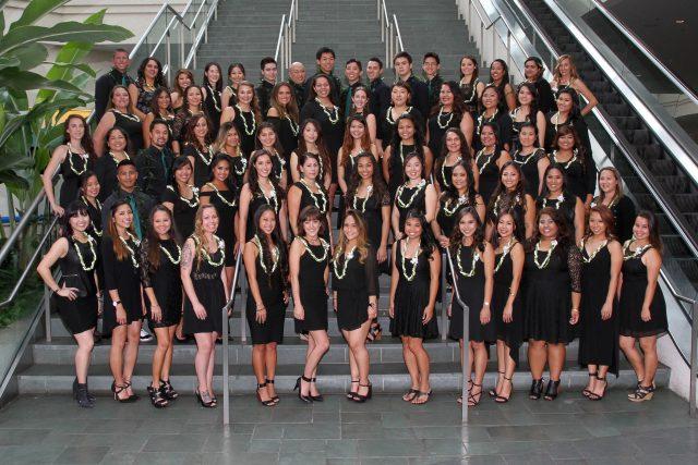 UHM Nursing Spring 2016 graduates pose for photo