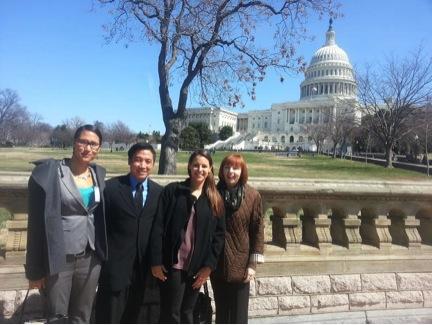 Nursing master's students Laura Reichhardt, Gregory Gee, and Elizabeth Alonzo