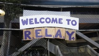 American Cancer Society's 9th Annual Relay for Life welcome sign