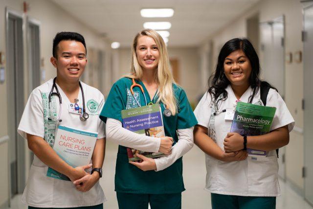 undergraduate nursing students in webster hall