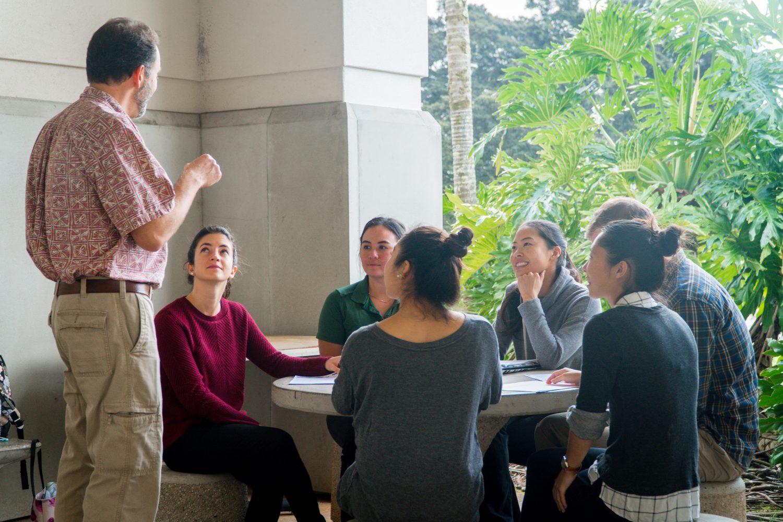 graduate students discuss