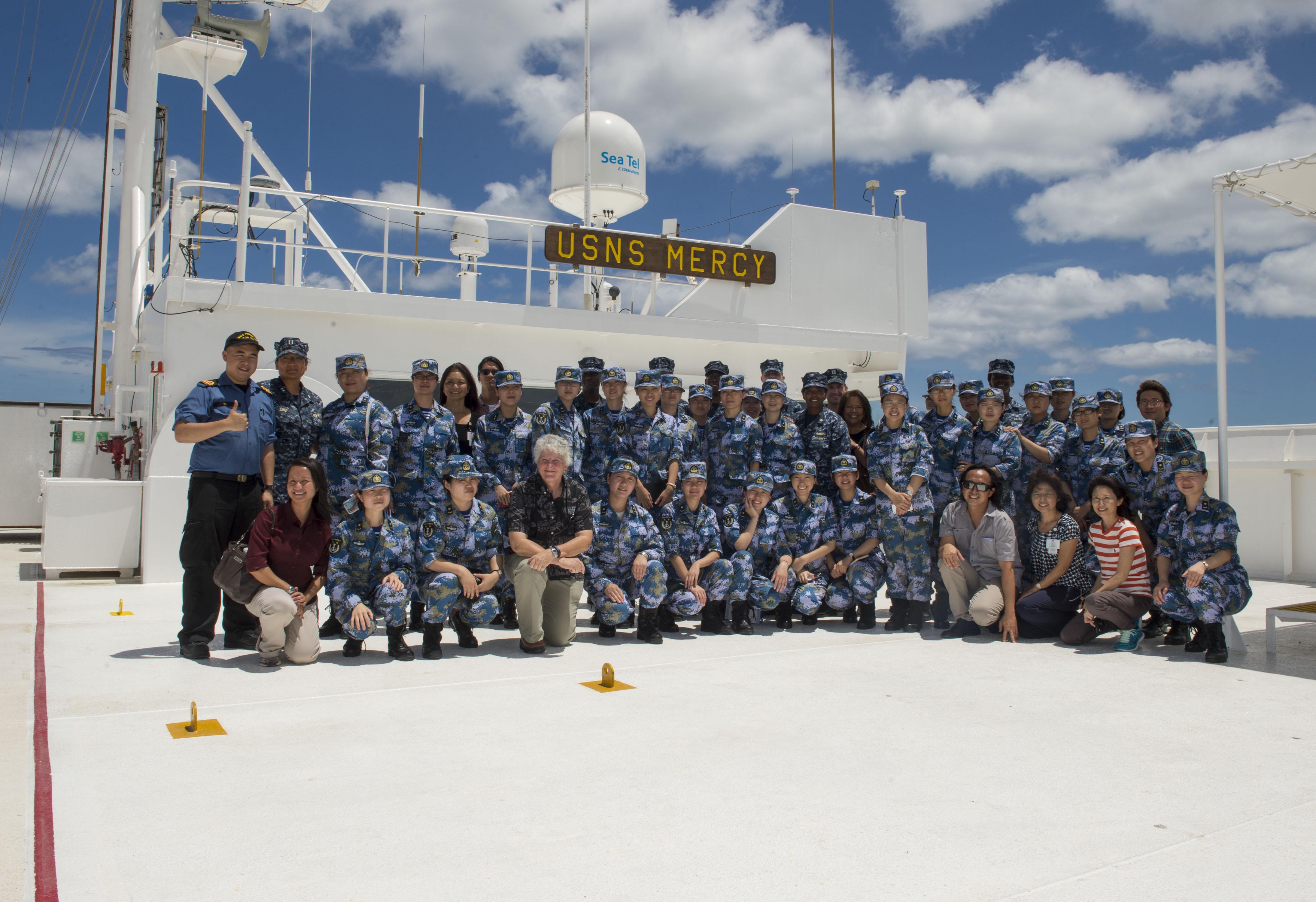 USNS Mercy team photo