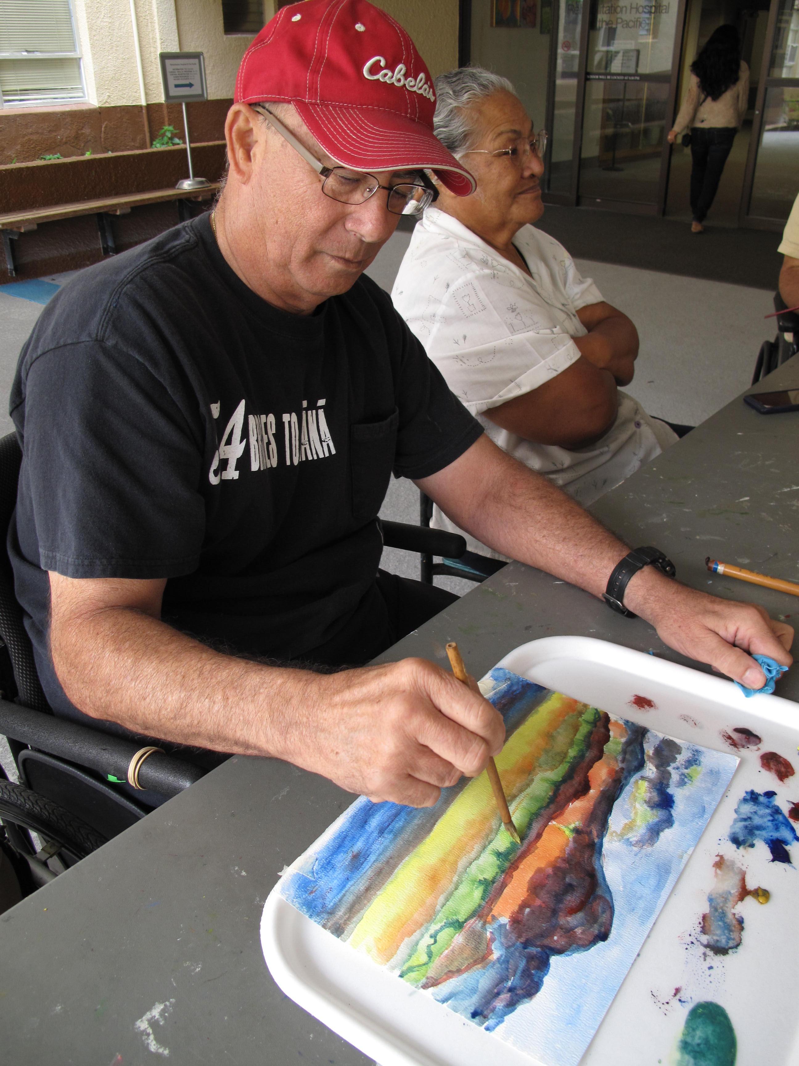 patient participates in REHAB's Creative Arts Program