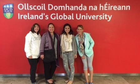 students pose at University College Dublin