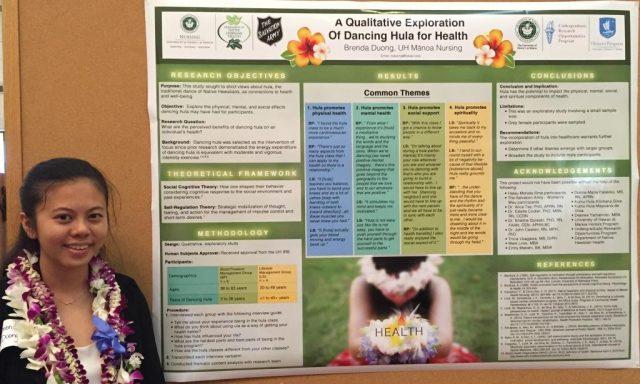 Brenda Duong presents her poster