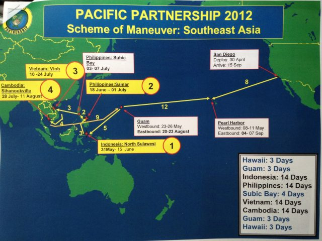 Pacific Partnership 2012 route
