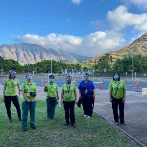 Hawaii Keiki Nurses At Vaccination Site