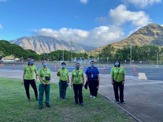 hawaii keiki nurses at a pod clinic