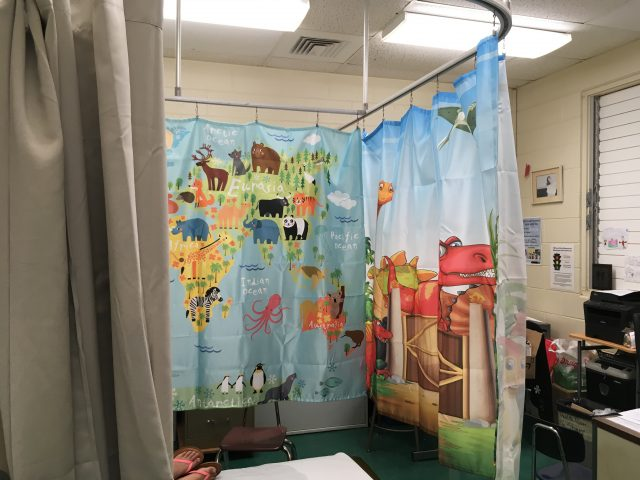 new curtains in the clinic