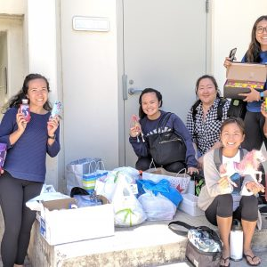 GEPN Students With Donations