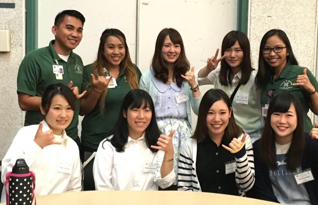 nursing students from Seitoku University pose for photo