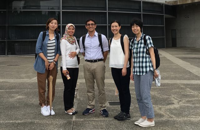 Gary Glauberman poses for group photo in japan