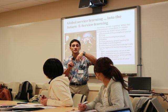 Gary Glauberman lecturing to international nurses