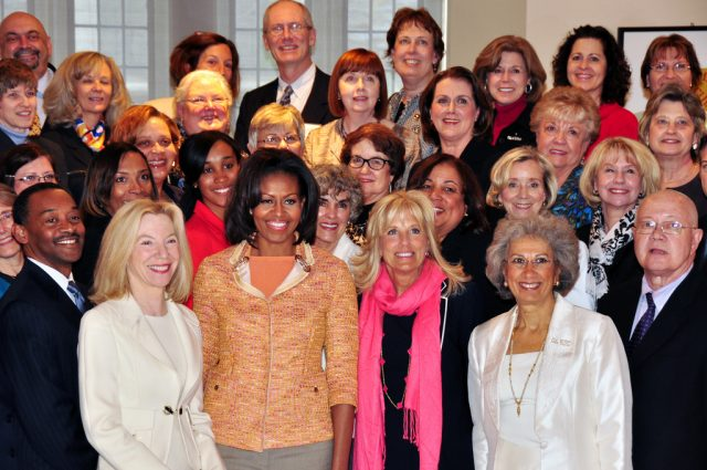 photo of First Lady Michelle Obama, Dr. Jill Biden, and UH Manoa Nursing Dean Mary Boland