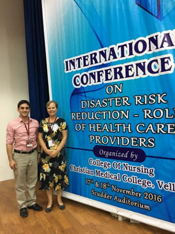 Dr. Kristine Qureshi poses at international health confrence