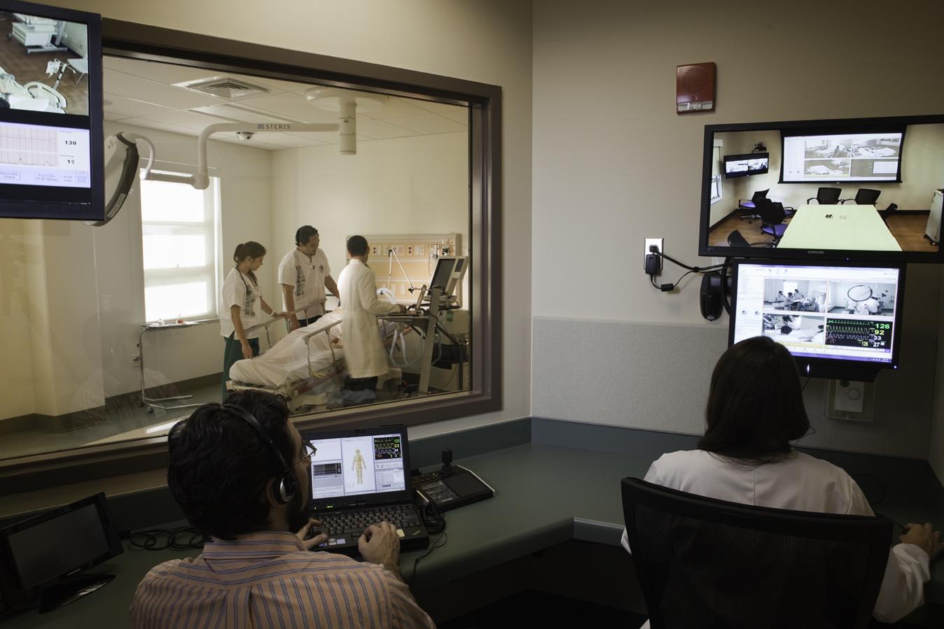 inside the simulation center