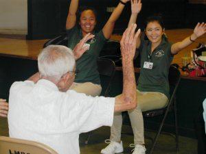 students participate with seniors at health fair held at the Lanakila Multipurpose Senior Center