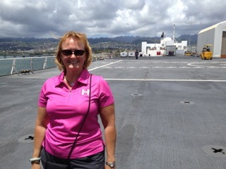 photo of Sarah Sanderlin, as she prepares to join the USN MERCY.