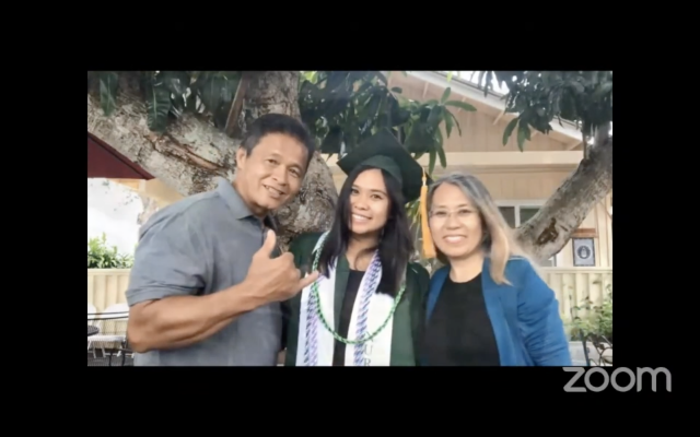 graduate with family on zoom