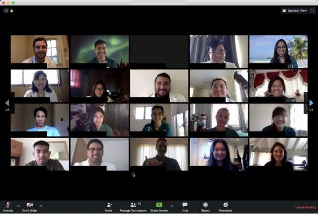 participants in zoom mtg