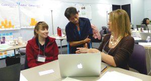 Alice Tse talks with participants