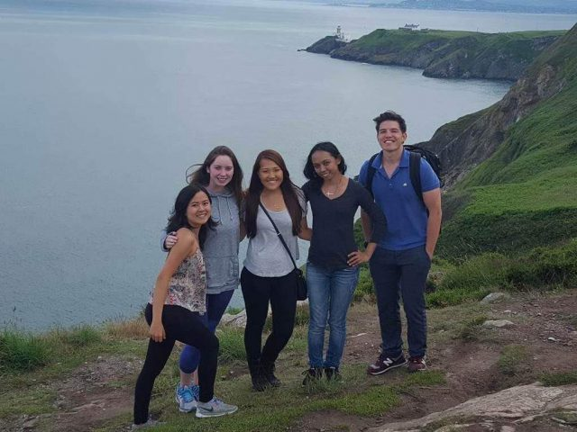 UH Manoa Nursing students pose for group photo in dublin
