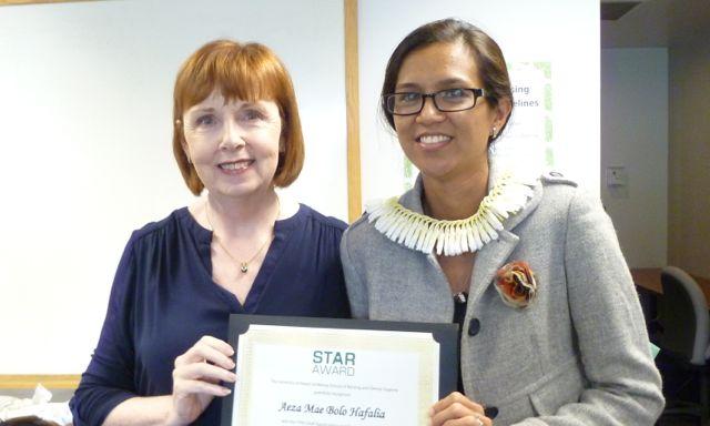 Aeza Hafalia receives star award