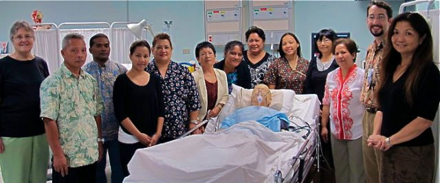 UH Manoa Nursing Students pose for group photo