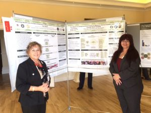 Abbie Neves and Penny Morrison present poster