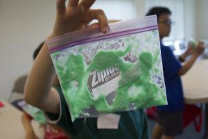 keiki shows off project at Second Annual Keiki Health Camp