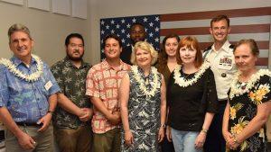 Photo of Manoa veterans lounge group