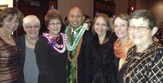 Dr. Inouye and Dr. Conde pose for group photo