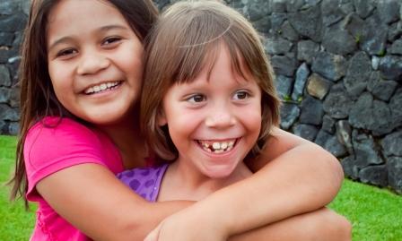 Happy health kids in Hawaii